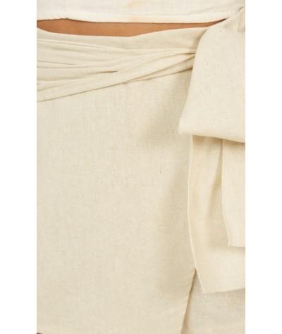 Meet Your Maker Skorts In Natural Linen Look
