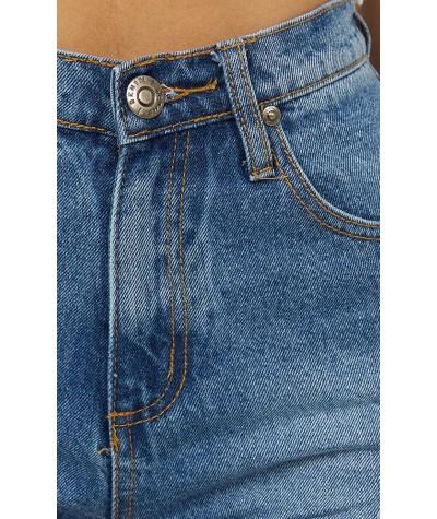 Found The Light Denim Shorts In Mid Wash