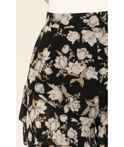 Flower Blossom Shorts In Black Floral