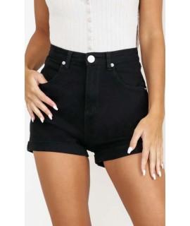 Join The Fray Denim Shorts In Black