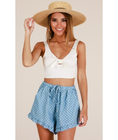 Back To The Sea Shorts In Chambray Spot