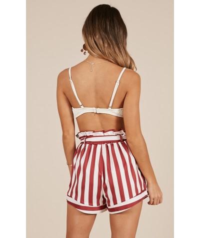 Summer Tide Shorts In Chilli Stripe