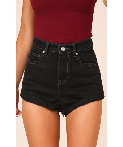 Ava Shorts In Black Denim
