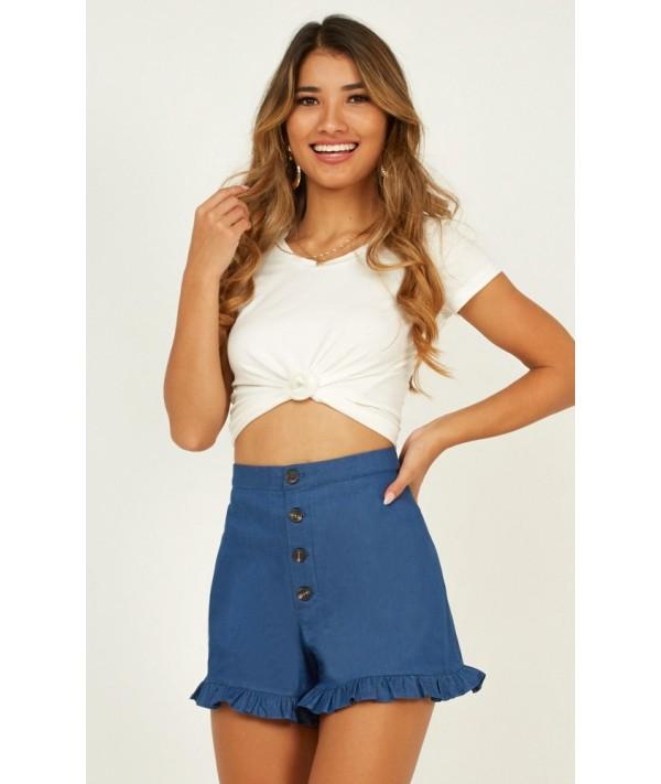 Rainberry Shorts In Denim Look