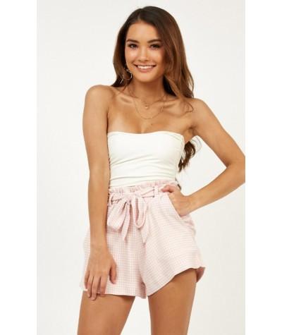 Sweet Taste Shorts In Pink Gingham