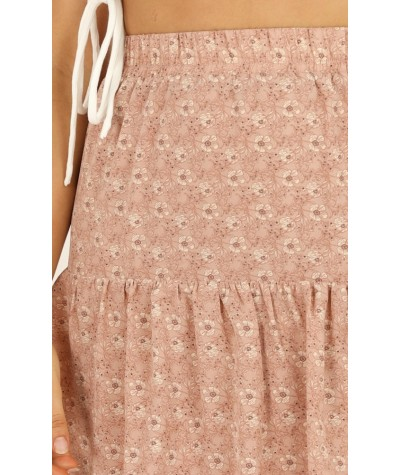 Sweet Salvation Skirt In Blush Floral