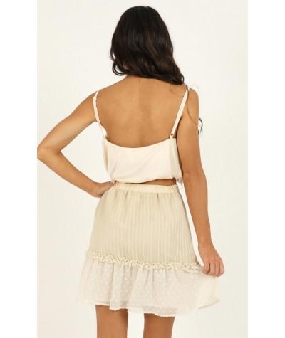 Open Options Skirt In Cream