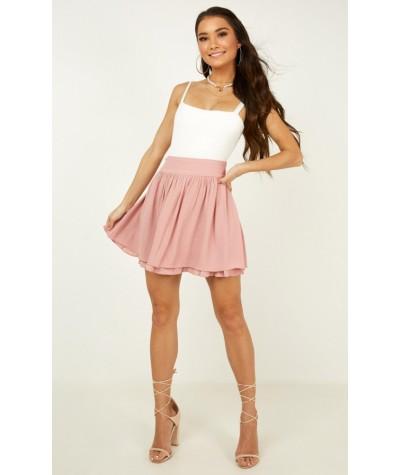 Heart Ache Skirt In Blush
