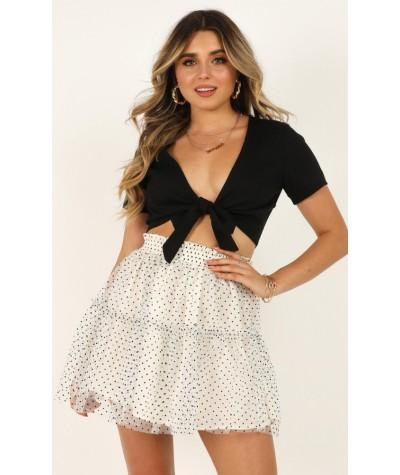 Rescue Me Skirt In White Spot