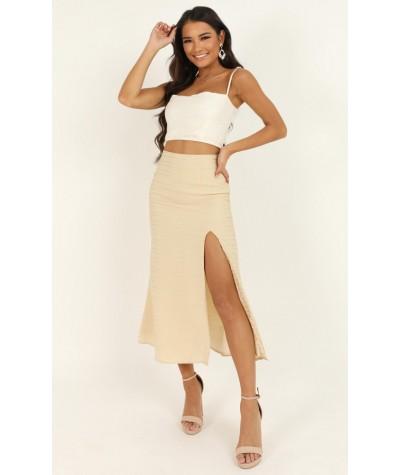 Unfold Me Skirt In Beige