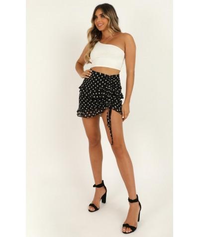 Keep It In Mind Skirt In Black Spot