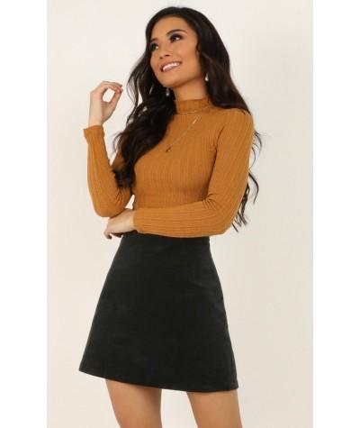 Broken Halos Skirt In Black Cord