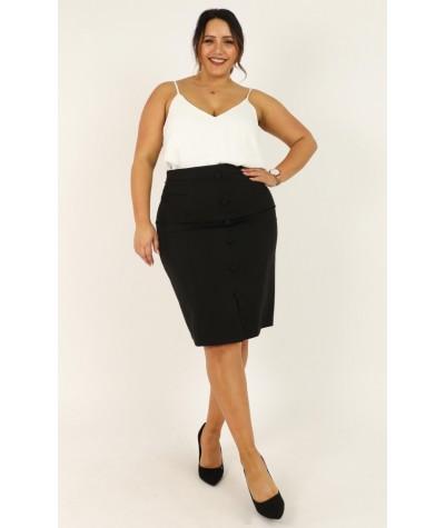 Carefully Put Skirt In Black